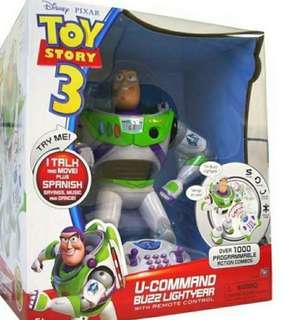 "全新 Toy Story 3 12"" 巴斯光年 U-command Buzz Lightyear with remote control"