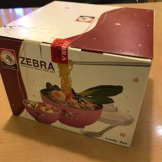 BNIB Zebra stainless steel bowl set