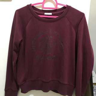 uniqlo maroon sweater