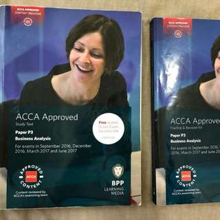 BPP ACCA P3 Study Book And Practice Book Till June 2017