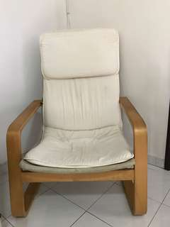 Old white armchair