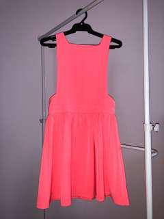 Neon pink dress costume