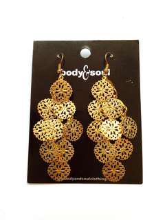Gold Earrings Body&Soul ORIGINAL (Anting Gold Body&Soul)