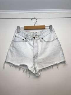 Vintage high waist denim shorts