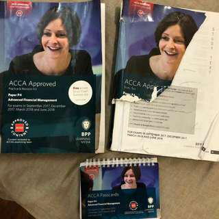 BPP ACCA P4 (AFM) Study Book and Practice&Revision Kit and Passcards Till June 2018