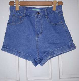 Denim HW Shorts