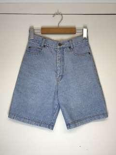 Long high waist mom shorts