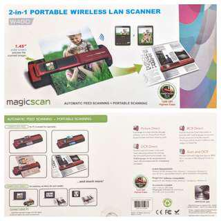 MagicScan Portable Wireless Scanner /w Feeder - High Res Model 1200dpi - Local set with warranty