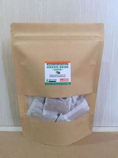 Green bean coffee sachet