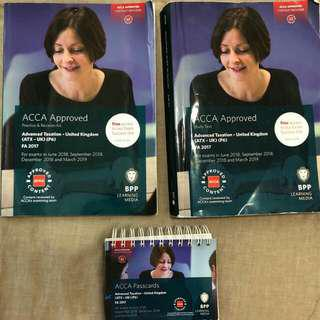 BPP ACCA ATX (P6) study Text, Practice&revision Kit And Passcards Valid For Exams Till March 2019 Uk Version.