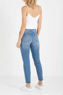 🚚 Black Denim Ripped Jeans