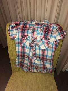 Terranova Pink Plaid Shirt (Size L)