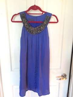 Size 8 Sheike Blue Shift Dress
