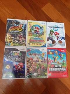Wii Game 日版 珍藏一套六隻瑪利奧,說明書齊有意聯繫😊