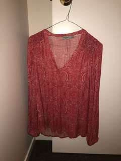 Just Jeans Red Shirt (Size 8)