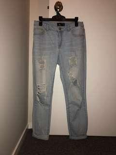Slim Boyfriend Jeans (Size 8)