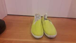 Bright Yellow Cotton Shoes