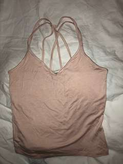 Garage pink strappy top