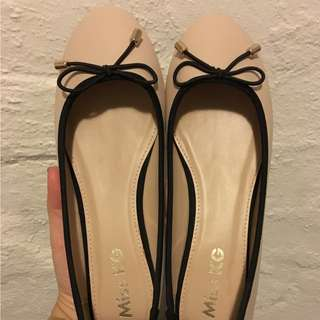Kurt Geiger Blush Nude Ballerina Flats Shoes - 8 - 39