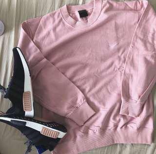 authentic nike dusty pink sweatshirt/pullover