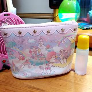 💓 包郵 ! 全新 日本 Sanrio 40週年 Little Twin Stars 化妝袋