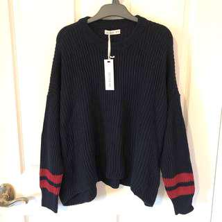 Sweater with red striped BNWT