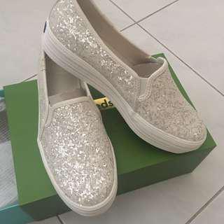 Kate Spade x Keds glitter sneaker slip on wedding shoes size 36 / 23.5 cm