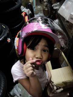 Kid helmet topi keledar kanak kanak budak pink dorra