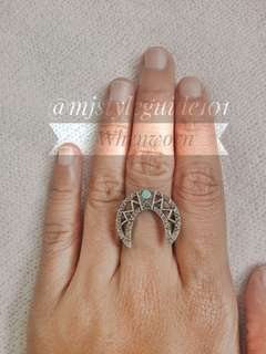 Vintage moon Gothic Ring