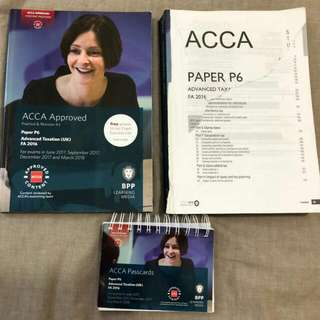 ACCA P6 Study Book, Practice&Revision Kit And Passcards Till March 2018
