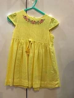 Poney Brand Linen Yellow Dress x Gingersnaps x Zara x Mango x Mothercare x Old Navy x Gap x Carters
