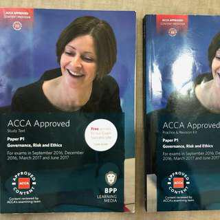 BPP ACCA P1 Study Book And Practice&Revision Kit Till June 2017
