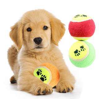 Bola tenis pet toys pet training bola lempar anjing