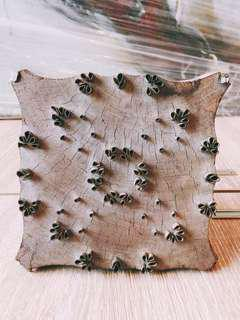 Indian Textile Printing Stamp