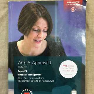BPP ACCA F9 Study Text Till Aug 2016