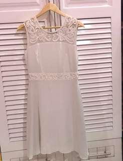 White Casual/Semi formal Dress
