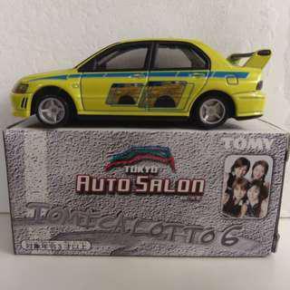 Tomica Auto Salon Lancer Evolution 7 黃色