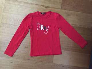 Dkny red t shirt