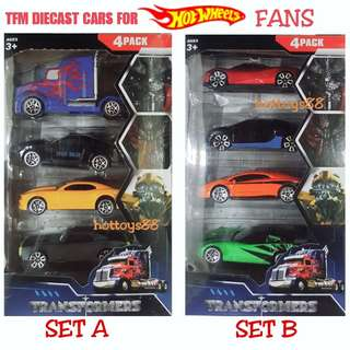 TRANSFORMERS ALLOY CAR SET 1/64 SCALE DIECAST TOY CARS TRUCK not HOT WHEELS CARS