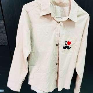 🚚 淡粉襯衫