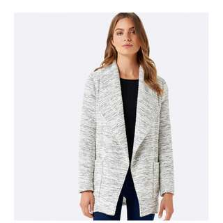 BNWOT Forever New Grey Marle Waterfall Jacket