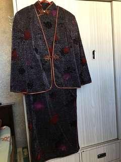 奶奶裝長裙+外套