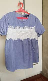 Kamiseta Tops with Lace