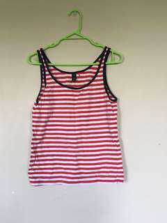 Red and White Singlet