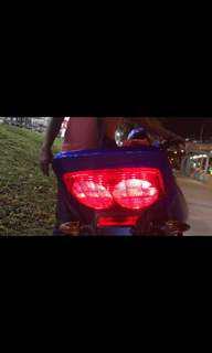 Brake strobing light