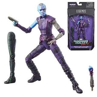 現貨全新未拆封 滅霸之女 Daughters of Thanos Nebula Marvel Legends Avengers Infinity War Movie 6 inch Action Figure w BAF Guardian of the Galaxy