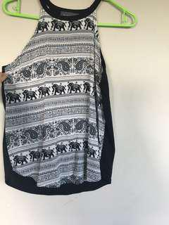 Elephant top with Black back
