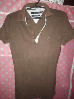 Brown tommy hilfiger poloshirt