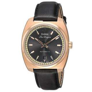 Rose Gold Zodiac Sea Dragon not vintage watch not Seiko Citizen Rolex Hamilton Universal Heuer Omega Rado Tissot