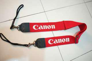 canon wide red strap leather hold